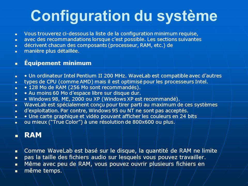 Configuration du système