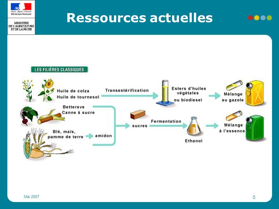 Ressources actuelles Mai 2007