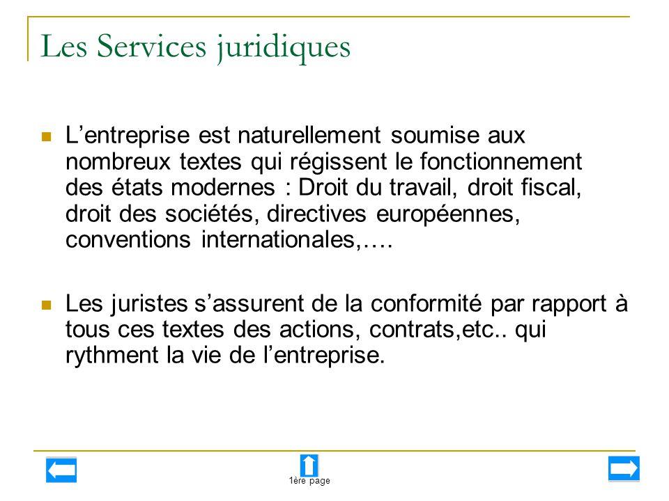 Les Services juridiques