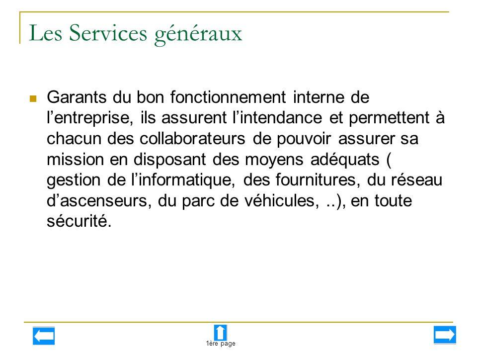 Les Services généraux