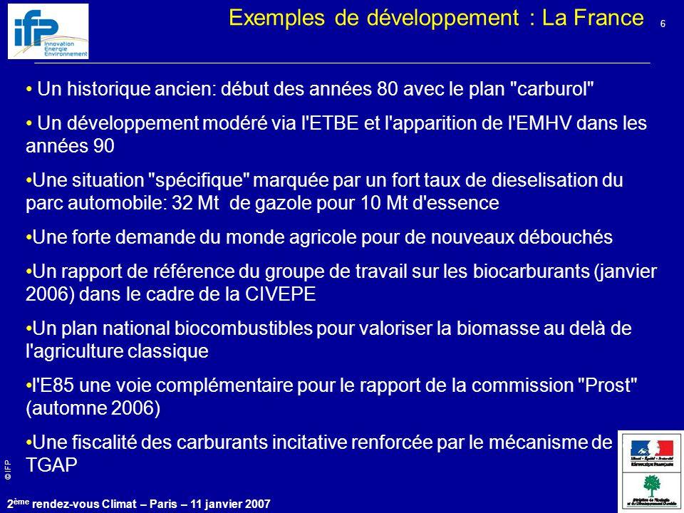 Exemples de développement : La France