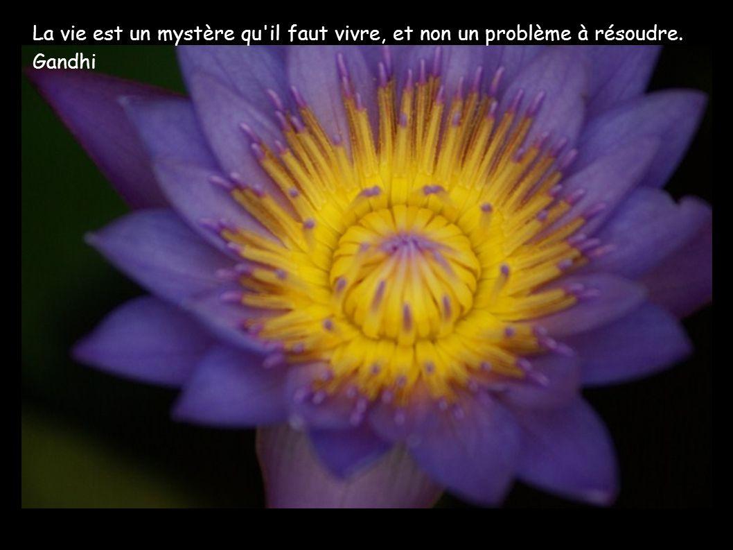 La vie est un mystère qu il faut vivre, et non un problème à résoudre.