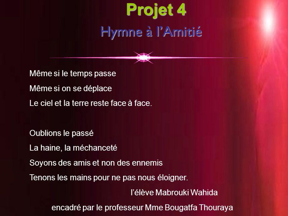 Projet 4 Hymne à l'Amitié Même si le temps passe Même si on se déplace