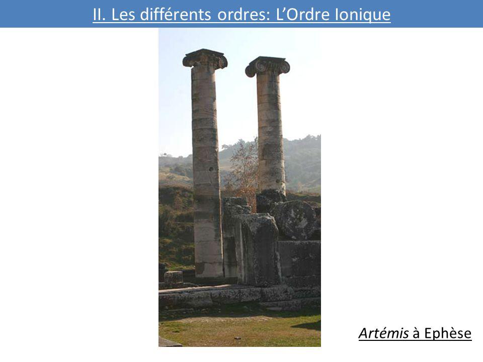 II. Les différents ordres: L'Ordre Ionique