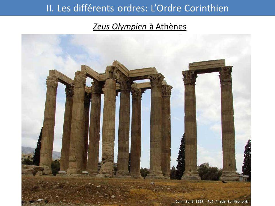 II. Les différents ordres: L'Ordre Corinthien