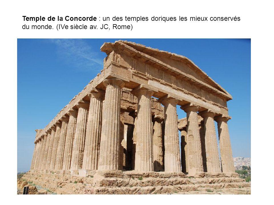 Temple de la Concorde : un des temples doriques les mieux conservés du monde.