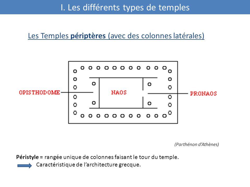 I. Les différents types de temples