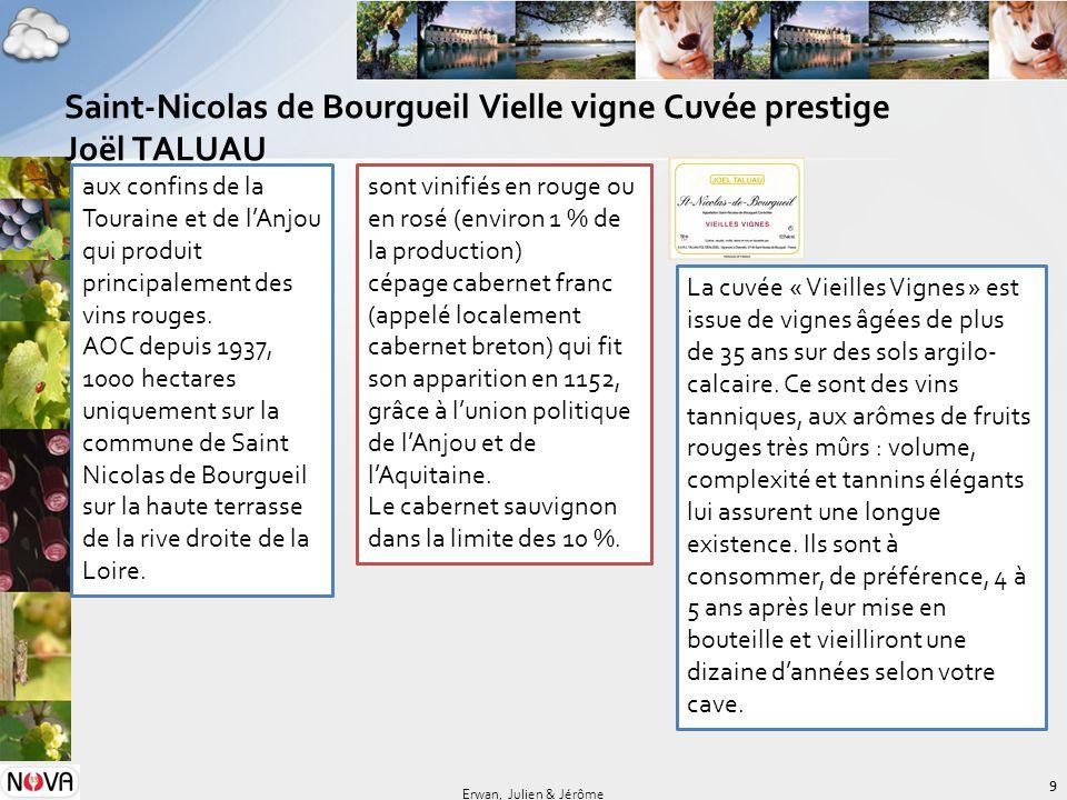 Saint-Nicolas de Bourgueil Vielle vigne Cuvée prestige Joël TALUAU