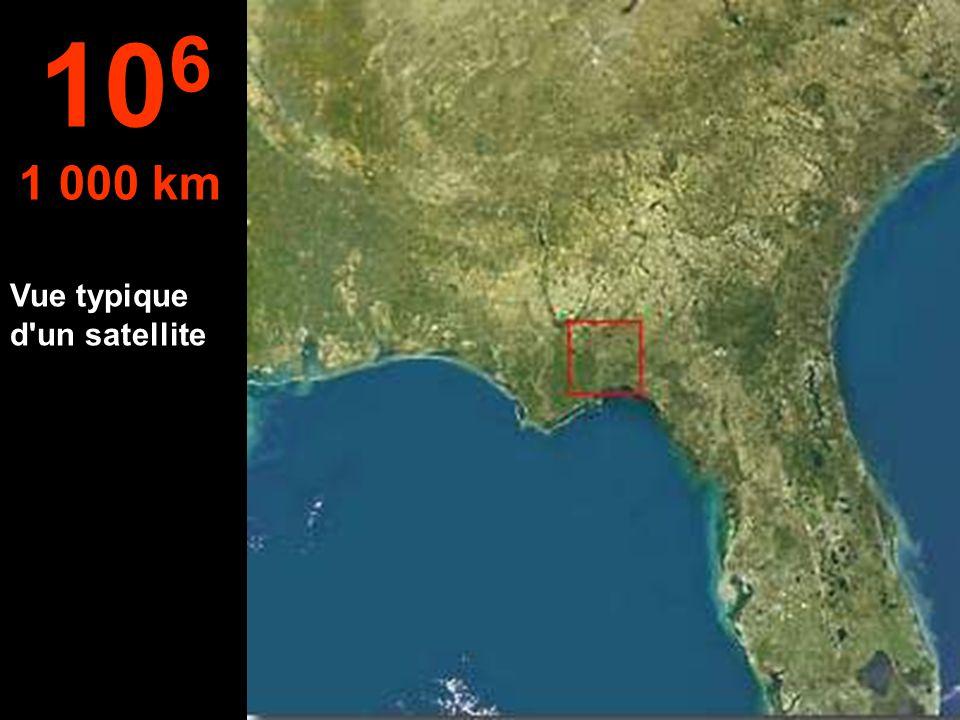 106 1 000 km Vue typique d un satellite