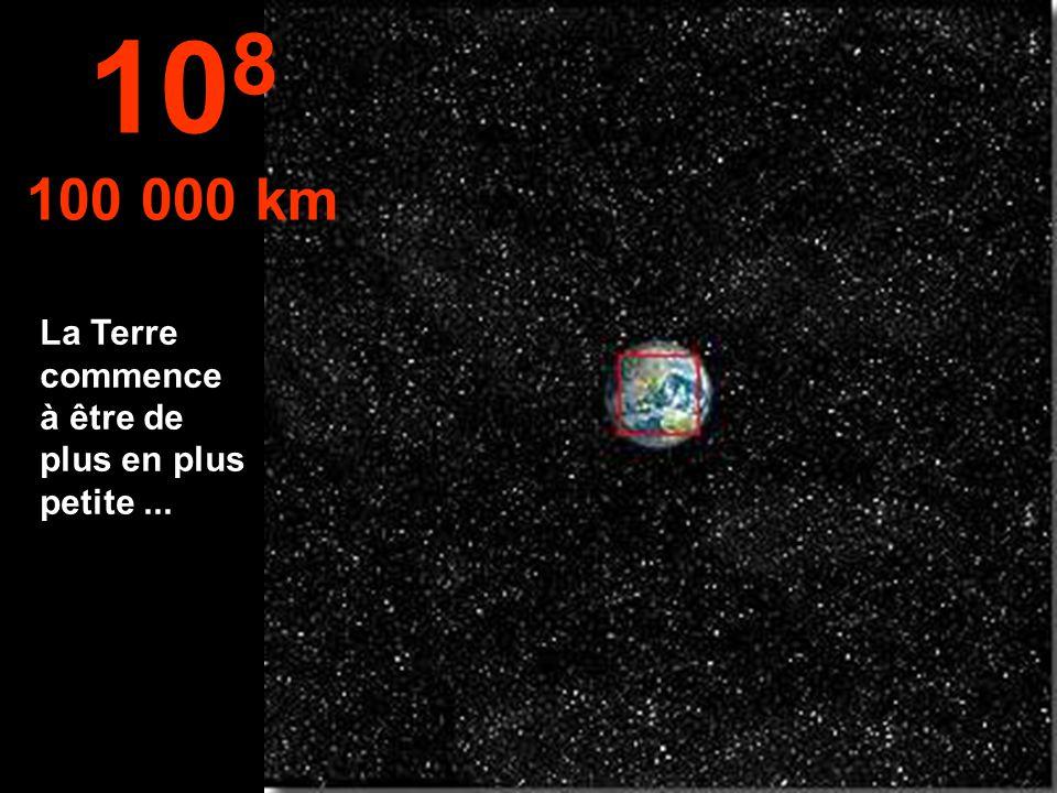 108 100 000 km La Terre commence à être de plus en plus petite ...