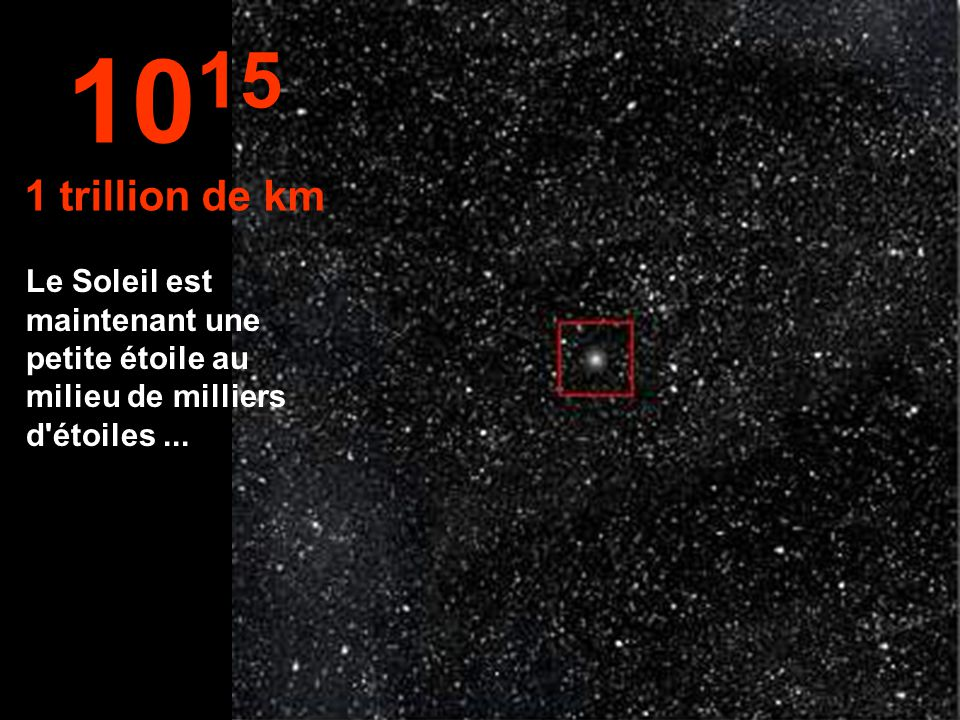 1015 1 trillion de km.