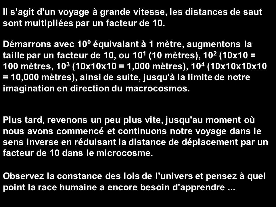 Il s agit d un voyage à grande vitesse, les distances de saut sont multipliées par un facteur de 10.