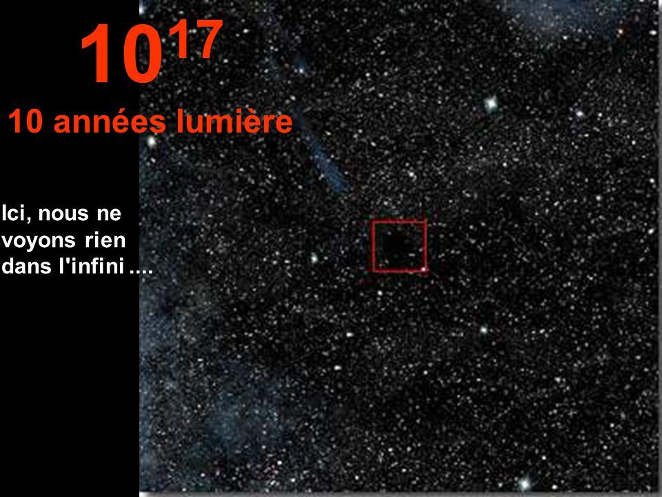 1017 10 années lumière Ici, nous ne voyons rien dans l infini ....