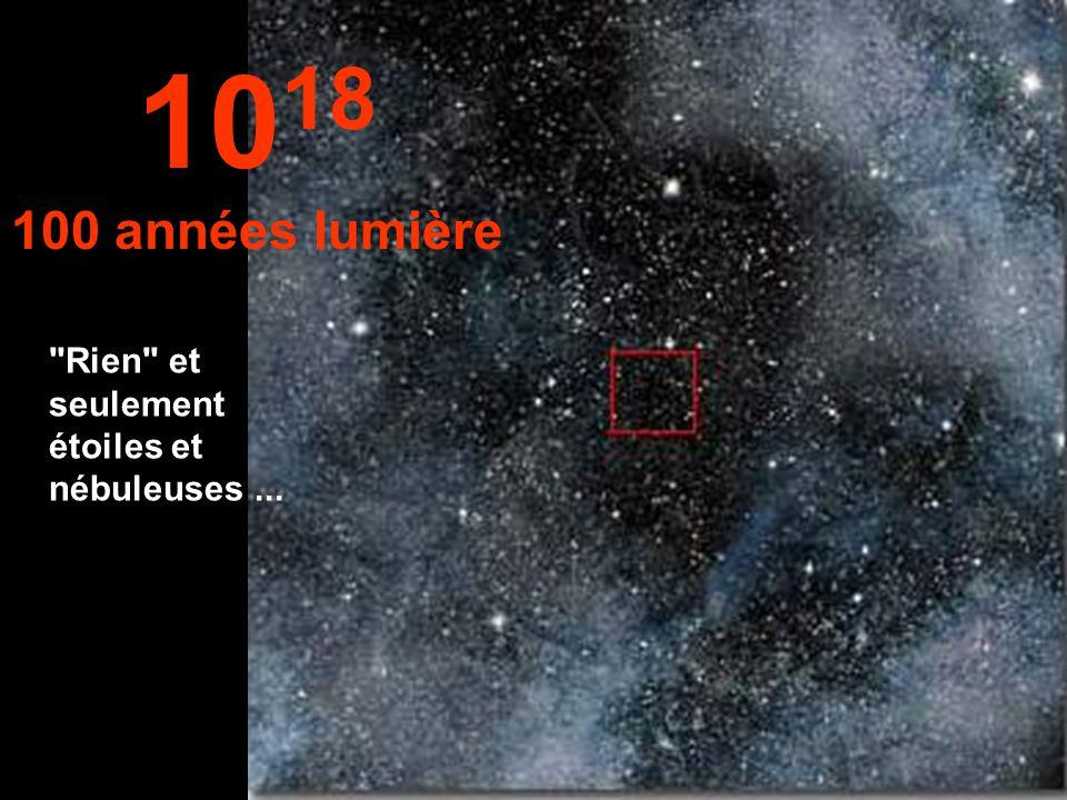 1018 100 années lumière Rien et seulement étoiles et nébuleuses ...