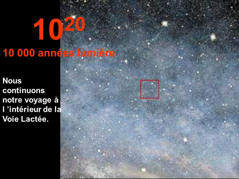 1020 10 000 années lumière Nous continuons notre voyage à l 'intérieur de la Voie Lactée.