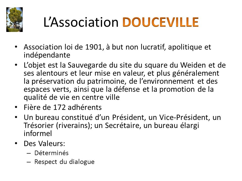 L'Association DOUCEVILLE