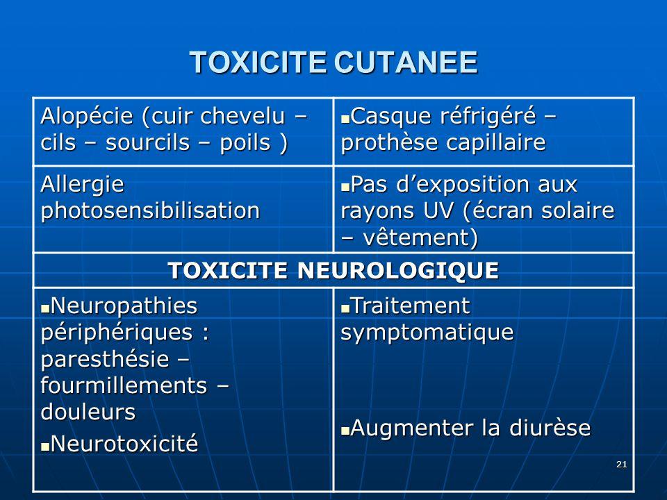 TOXICITE NEUROLOGIQUE