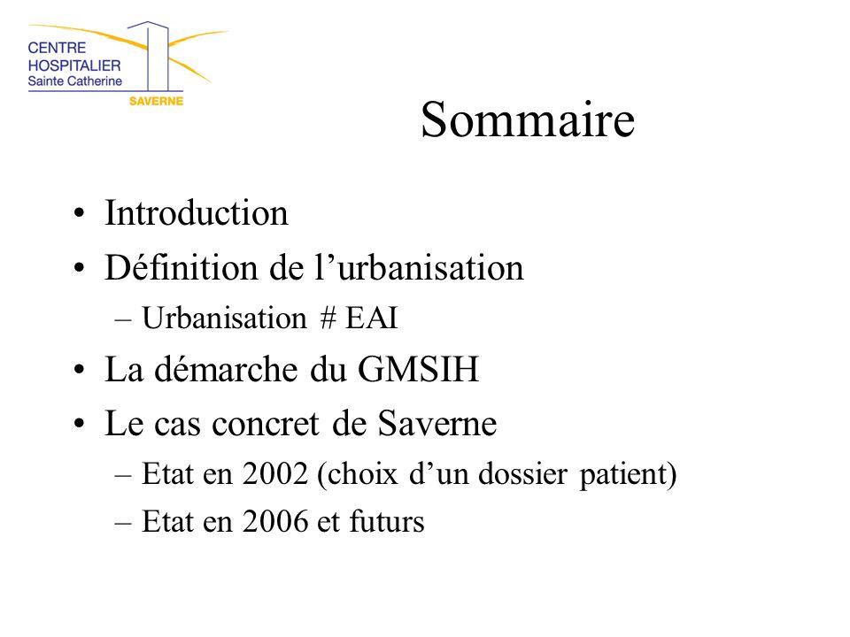 Sommaire Introduction Définition de l'urbanisation