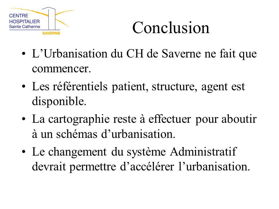 Conclusion L'Urbanisation du CH de Saverne ne fait que commencer.