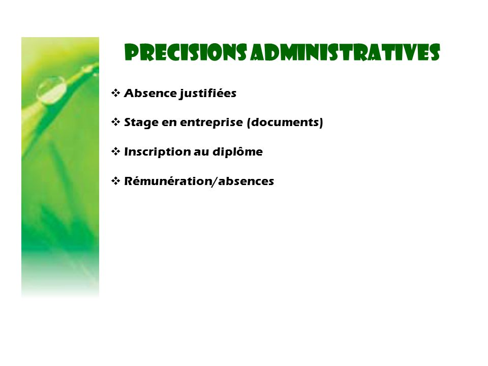 PRECISIONS administratives