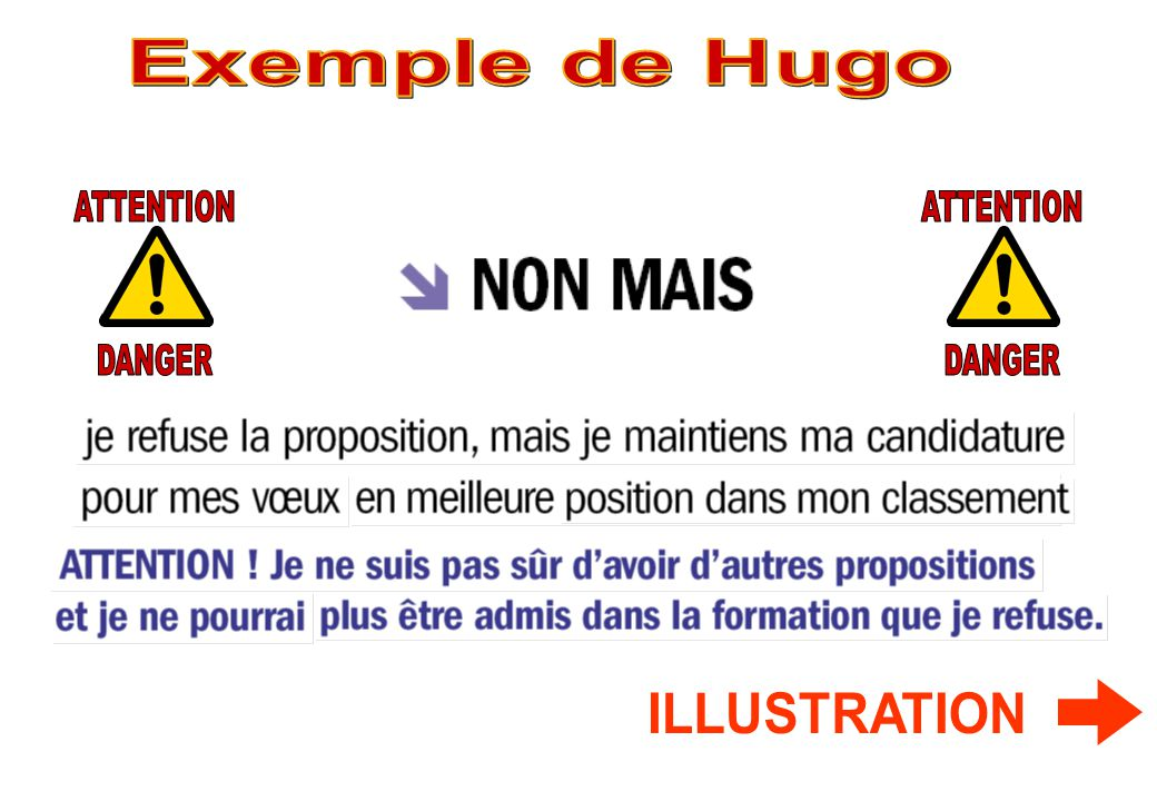 Exemple de Hugo ATTENTION DANGER ATTENTION DANGER ILLUSTRATION