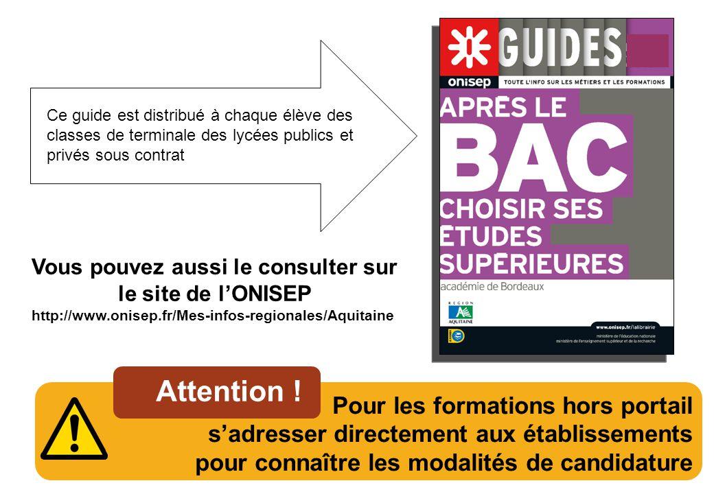Vous pouvez aussi le consulter sur le site de l'ONISEP