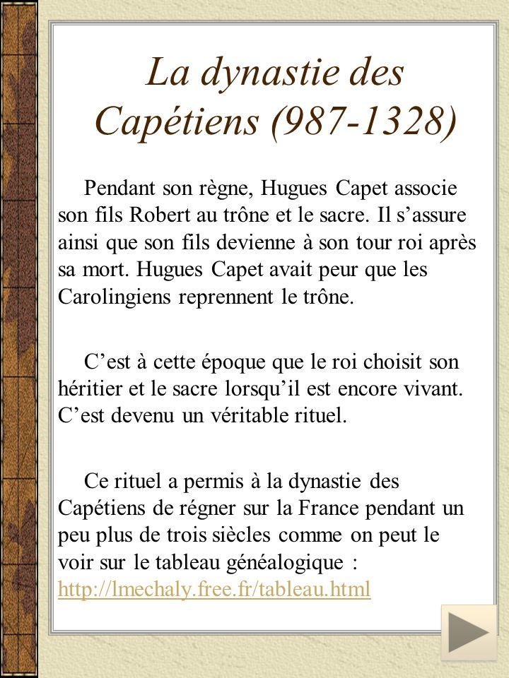 La dynastie des Capétiens (987-1328)