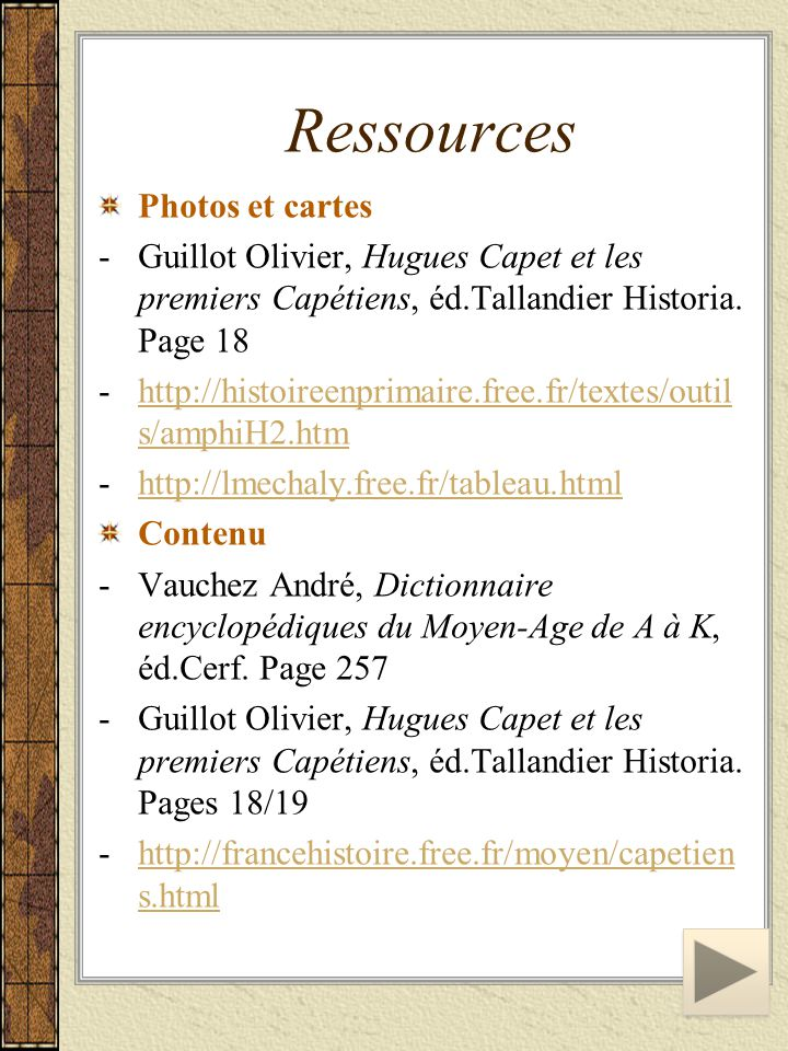 Ressources Photos et cartes