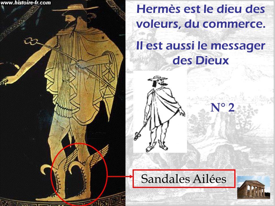 Hermès est le dieu des voleurs, du commerce.