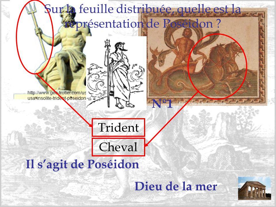Sur la feuille distribuée, quelle est la représentation de Poséidon