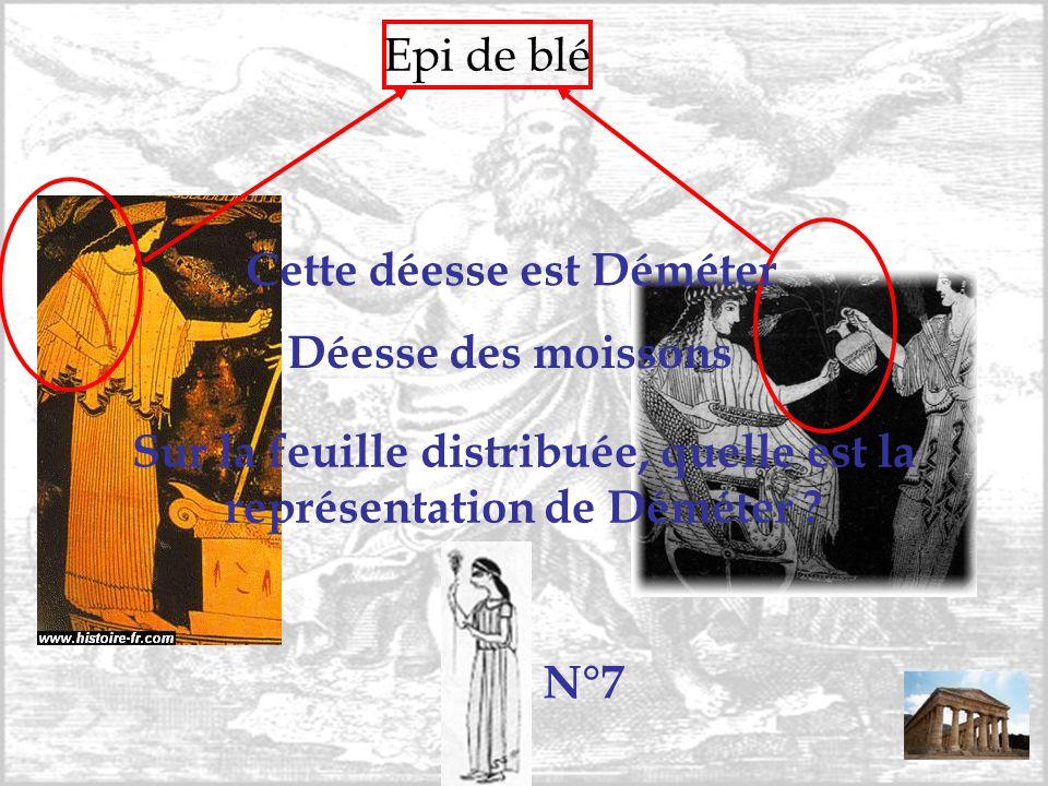 Sur la feuille distribuée, quelle est la représentation de Déméter
