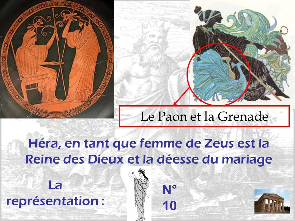 Le Paon et la Grenade Héra, en tant que femme de Zeus est la Reine des Dieux et la déesse du mariage.