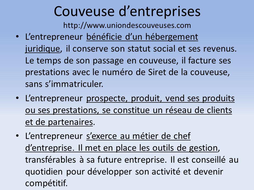 Couveuse d'entreprises http://www.uniondescouveuses.com