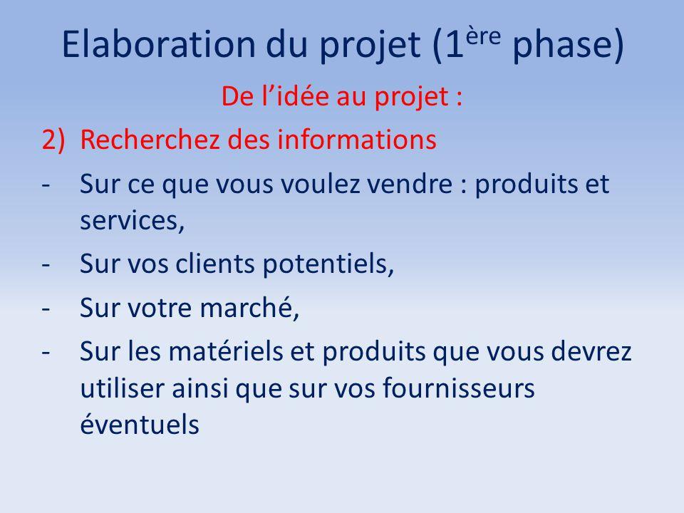 Elaboration du projet (1ère phase)