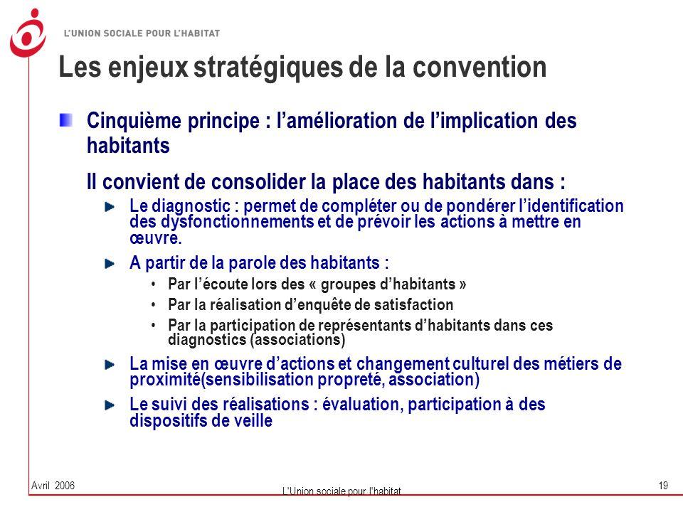 Les enjeux stratégiques de la convention