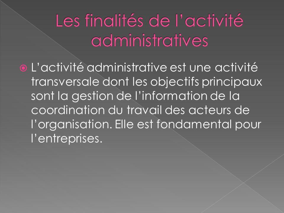 Les finalités de l'activité administratives