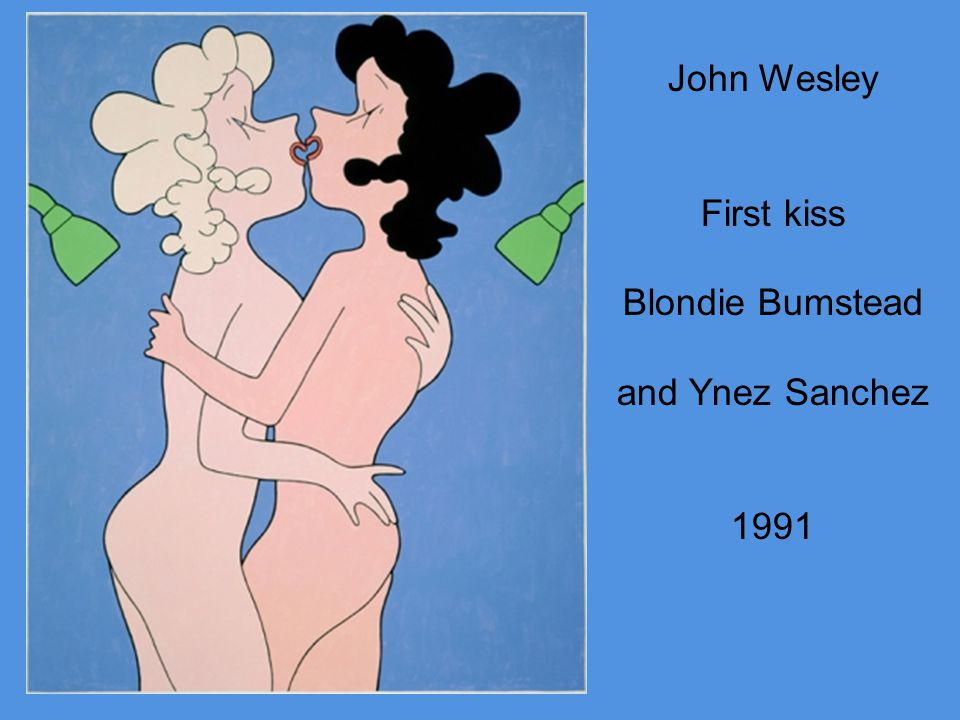 John Wesley First kiss Blondie Bumstead and Ynez Sanchez 1991