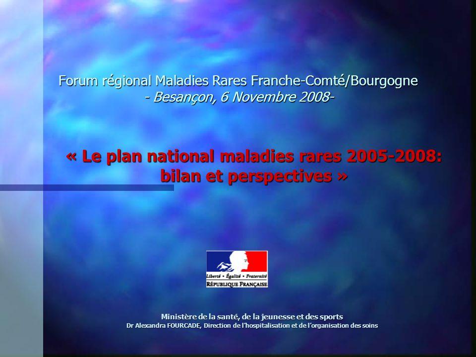 « Le plan national maladies rares 2005-2008: bilan et perspectives »