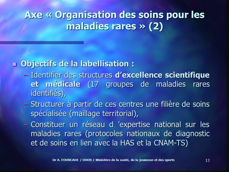 Axe « Organisation des soins pour les maladies rares » (2)