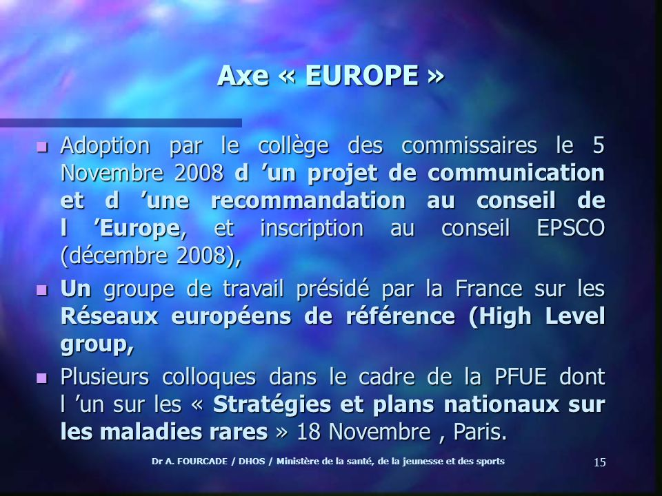Axe « EUROPE »
