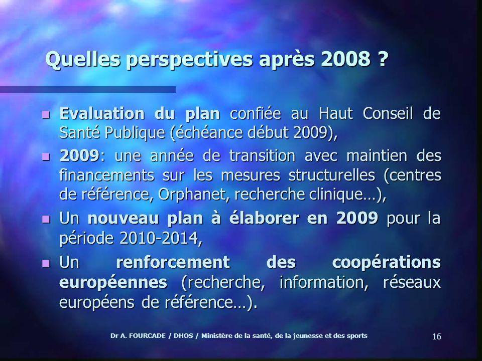 Quelles perspectives après 2008