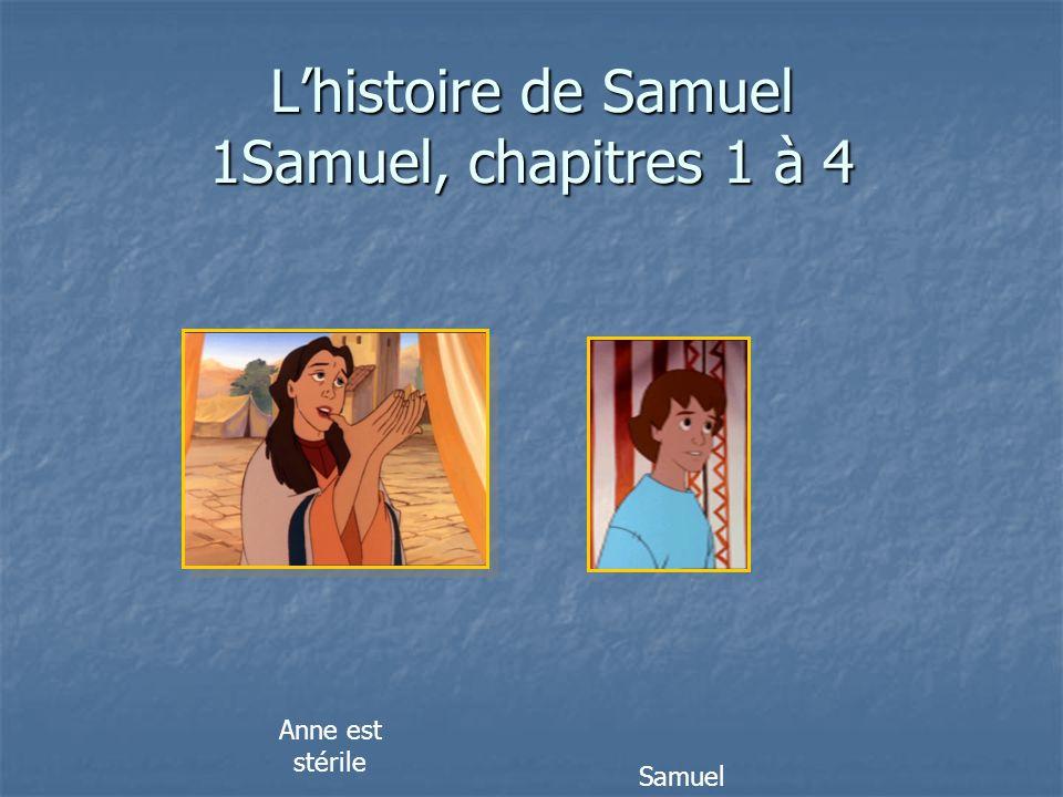 L'histoire de Samuel 1Samuel, chapitres 1 à 4