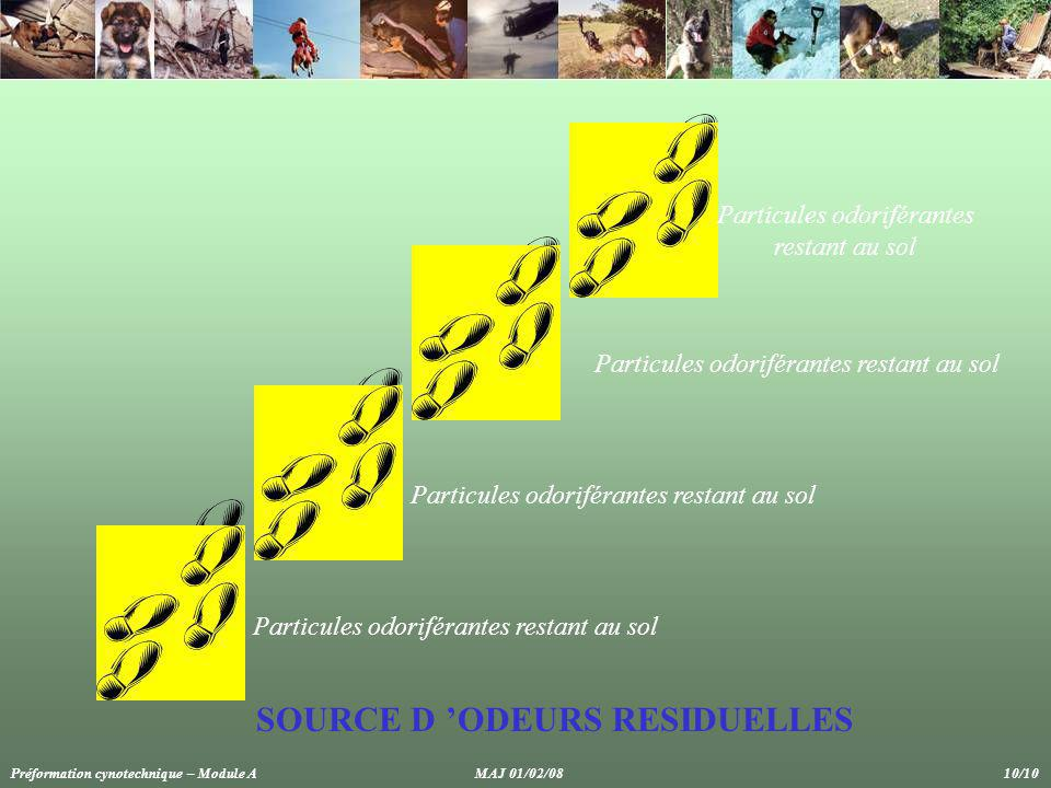 SOURCE D 'ODEURS RESIDUELLES