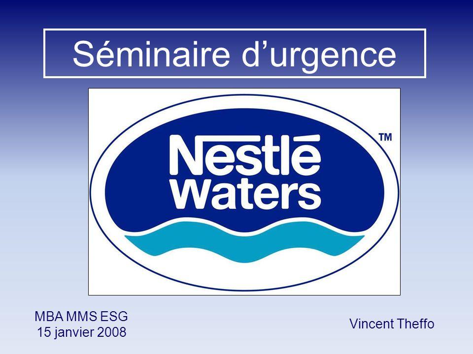 Séminaire d'urgence MBA MMS ESG 15 janvier 2008 Vincent Theffo