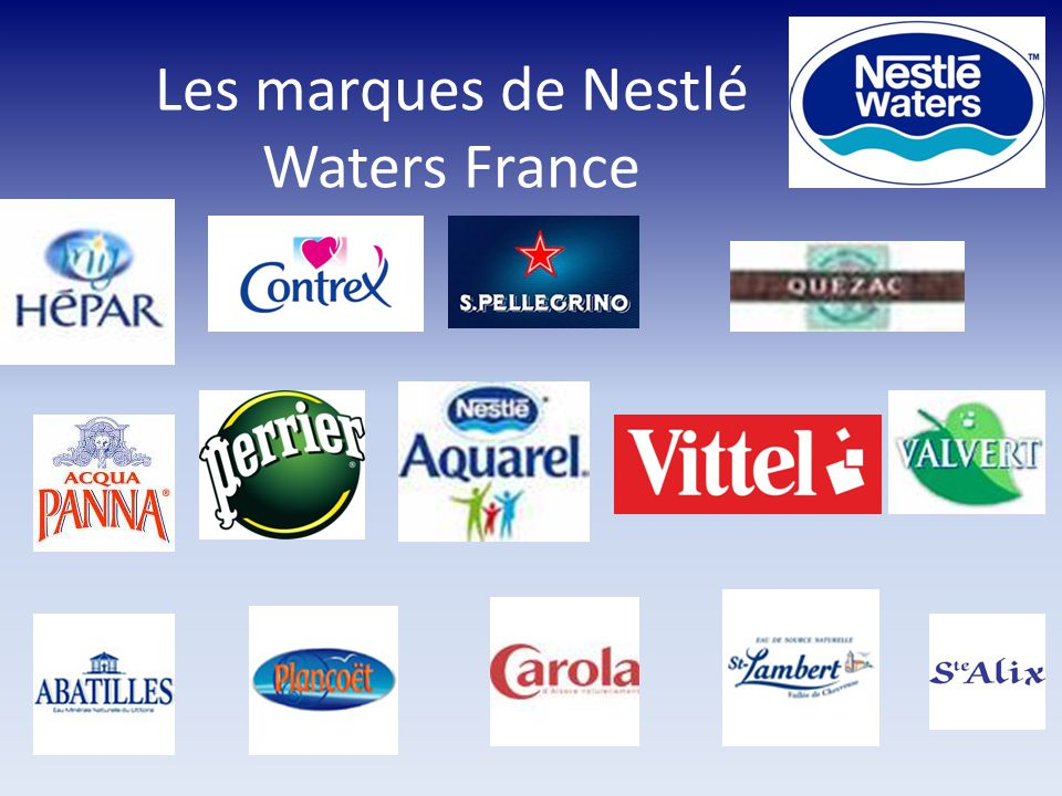 Les marques de Nestlé Waters France