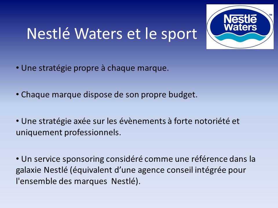 Nestlé Waters et le sport