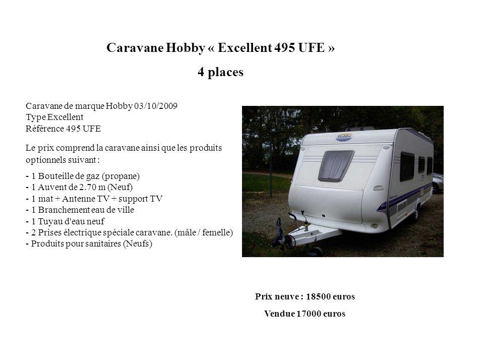 Caravane Hobby « Excellent 495 UFE »
