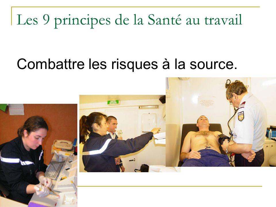 Les 9 principes de la Santé au travail