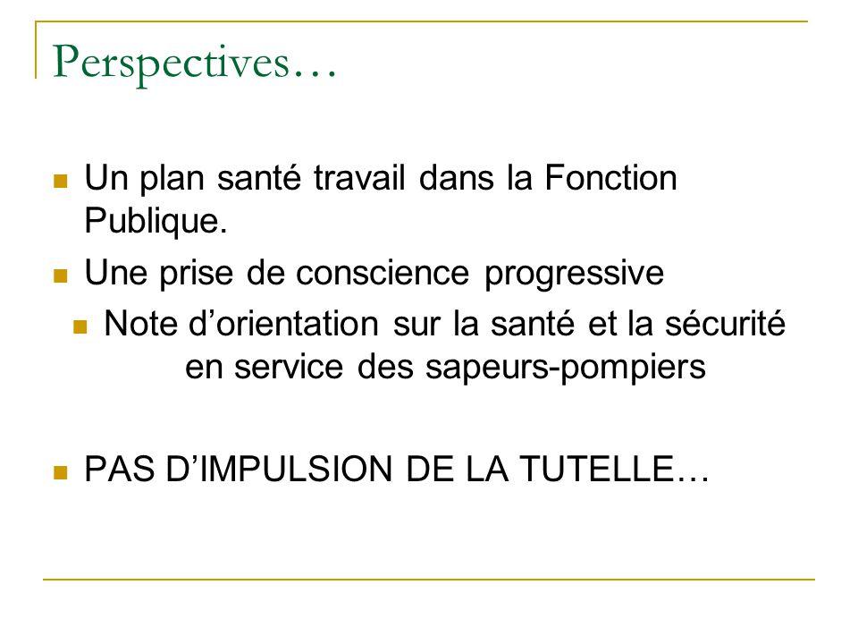 Perspectives… Un plan santé travail dans la Fonction Publique.