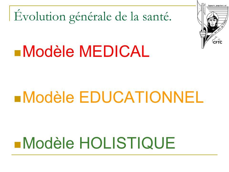 Évolution générale de la santé.
